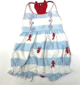 Cotton Kids Crawfish Back Girls Romper