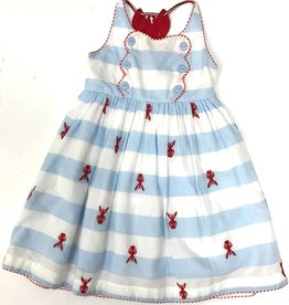 Crawfish Back Embroidered Dress