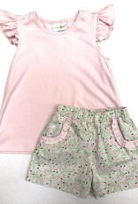 Zuccini Pink Floral Blouse With Andie Shorts