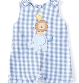 Petit Ami Blue Gingham Safari Jon Jon