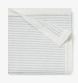 Elegant Baby Cloud Blue Mini Stripe Cotton Knit Baby Blanket