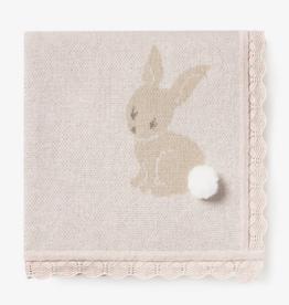 Elegant Baby Bunny Cotton Knit Baby Blanket
