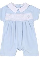 Magnolia Baby Elena & Elia's Smocked Collared Boys Playsuit - Blue