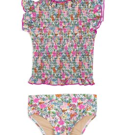 Shade Critters Smocked Liberty Floral Swim Set