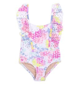 Shade Critters Ruffle One Piece Suit Floral Eyelet