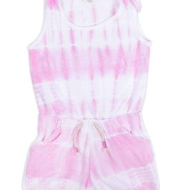Shade Critters Terry Romper Purple Tie Dye Cover up