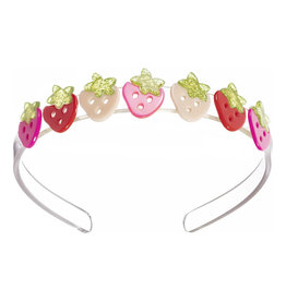 Lillies&Roses Multi Strawberry Pink Red Headband