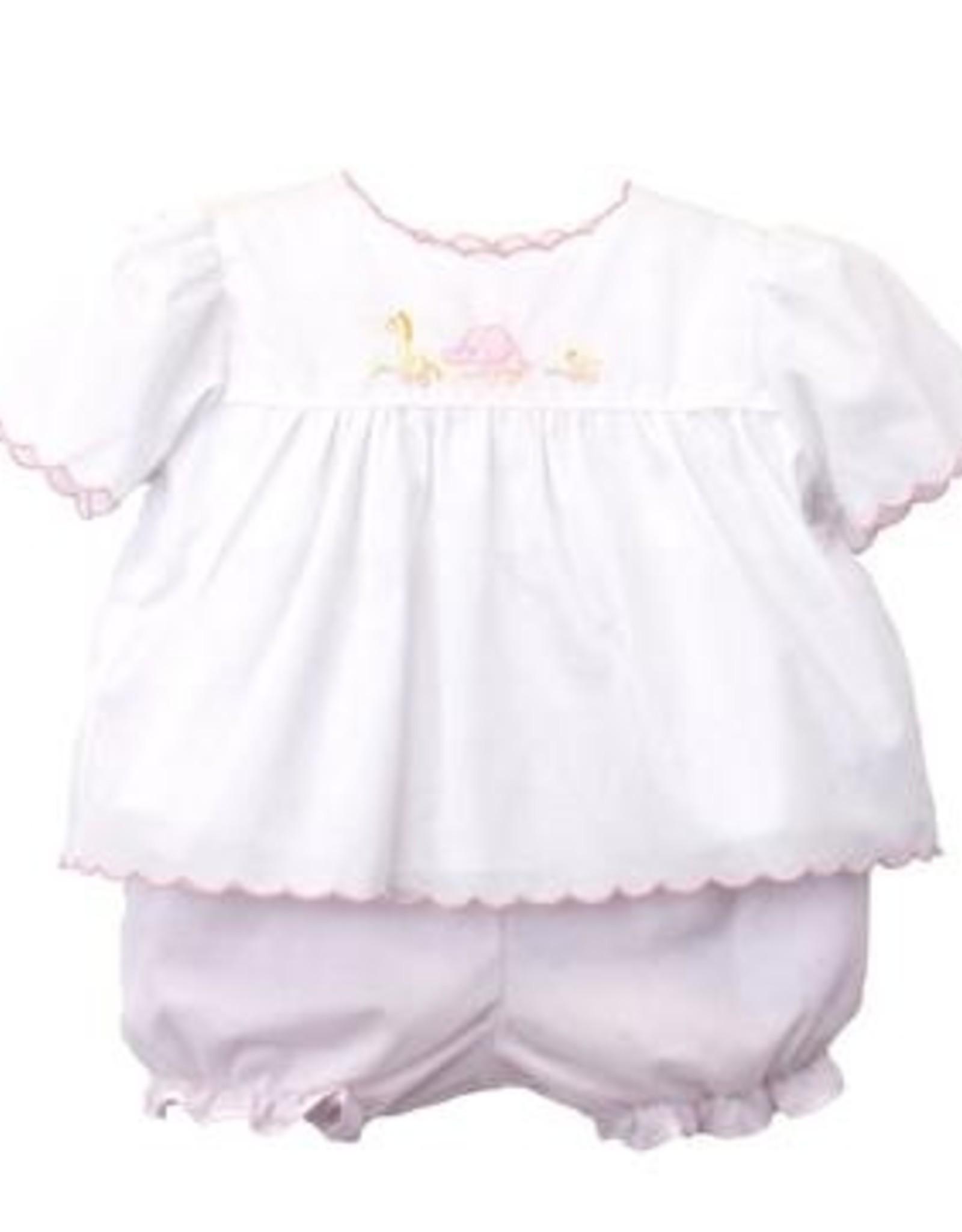 Petit Ami Girls Animal Pull Toy Diaper Set Pink