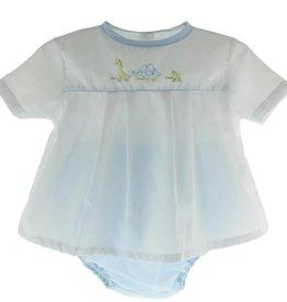 Petit Ami Boys Animal Pull Toy Diaper Set Blue