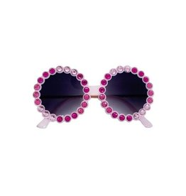 Bari Lynn Fully Crystalized Round Sunglasses