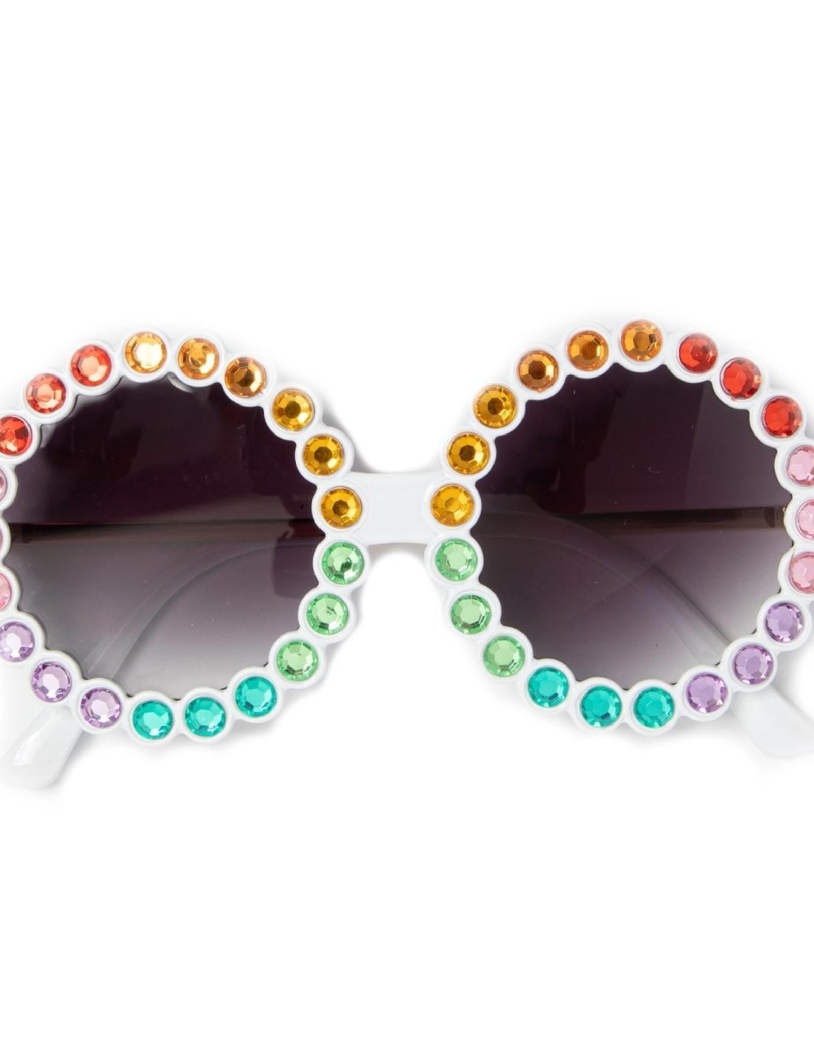 Bari Lynn Fully Crystalized Round Sunglasses
