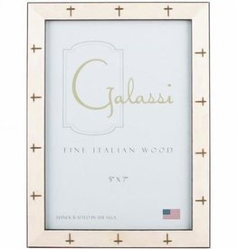 Galassi White Frame With Gold Crosses