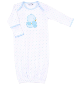 Magnolia Baby Gingham Duckie Applique Lap Gown