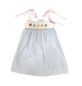 Krewe Smocked Snowball Dress