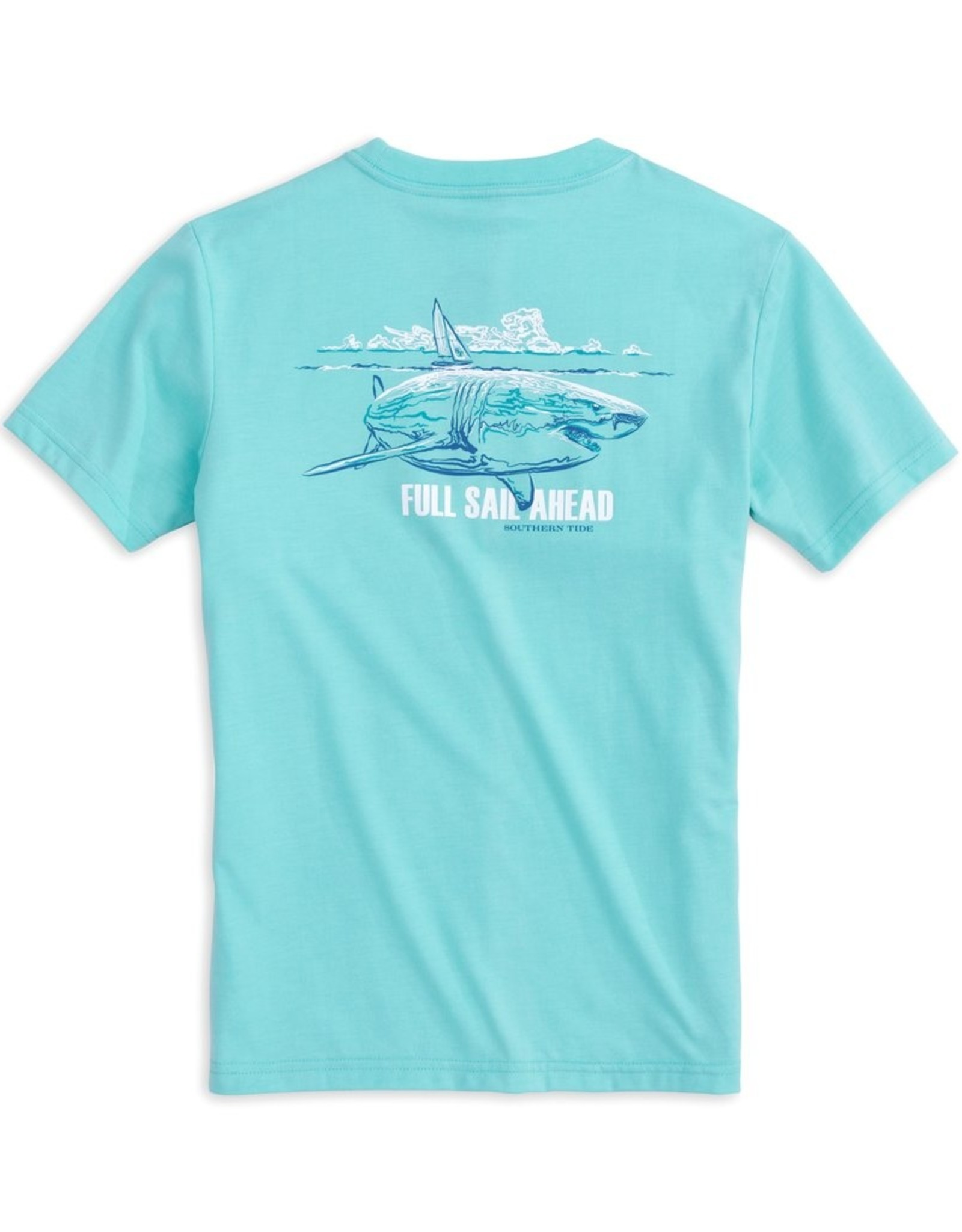 Southern Tide Full Sail Ahead Tee, Crystal Blue