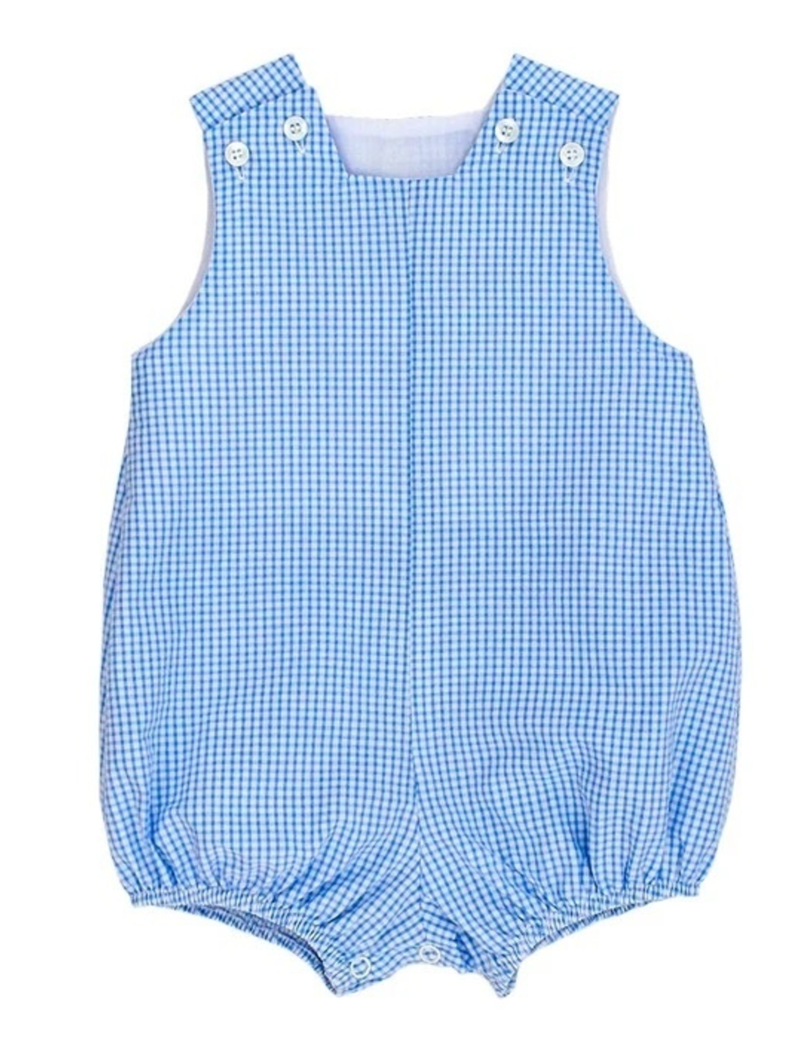 The Bailey Boys Boys Blue Check Seersucker Infant Bubble