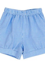 The Bailey Boys Blue Check Seersucker Banded Short