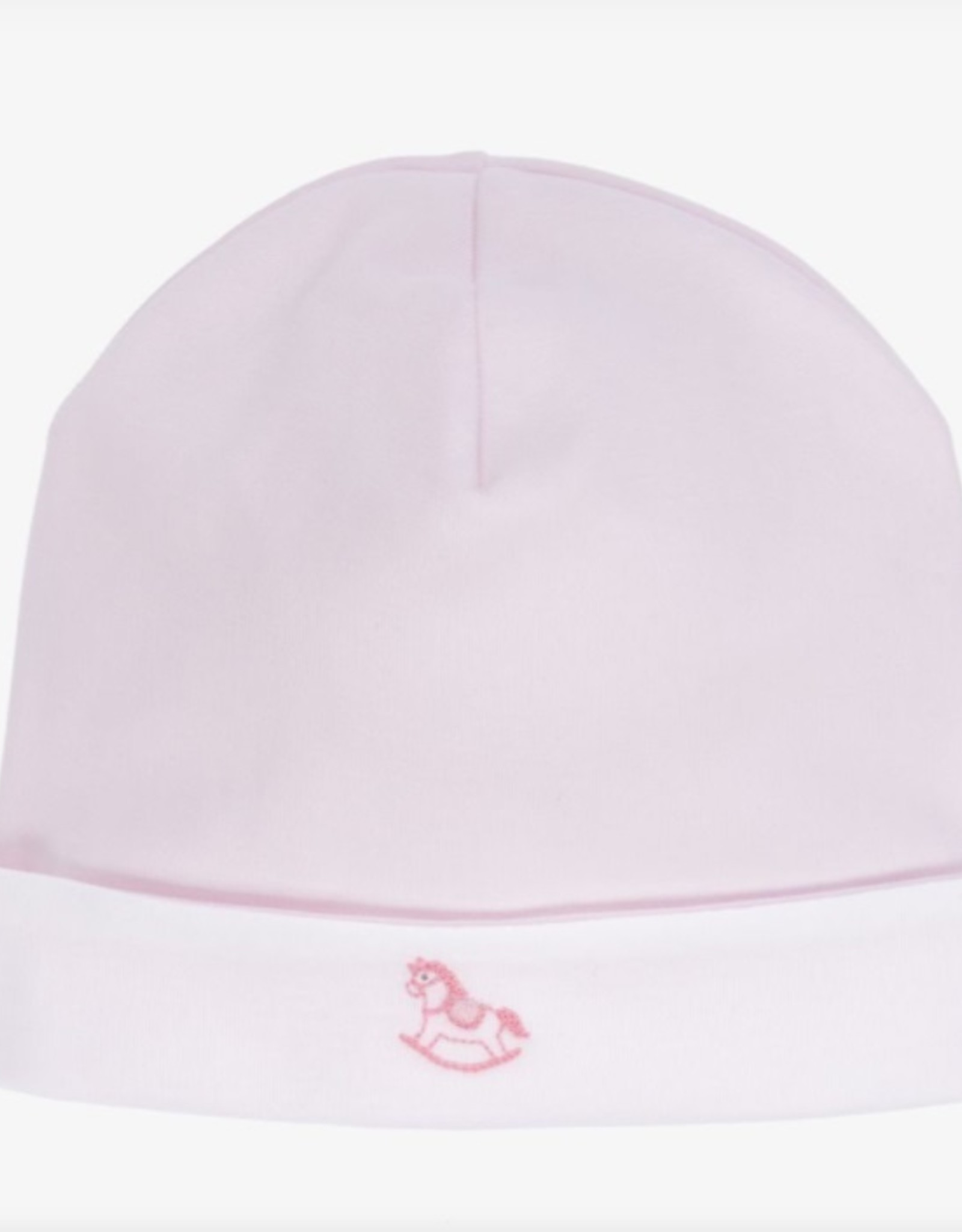 Kissy Kissy Pink Hat w/ Rocking Horse Embroidery