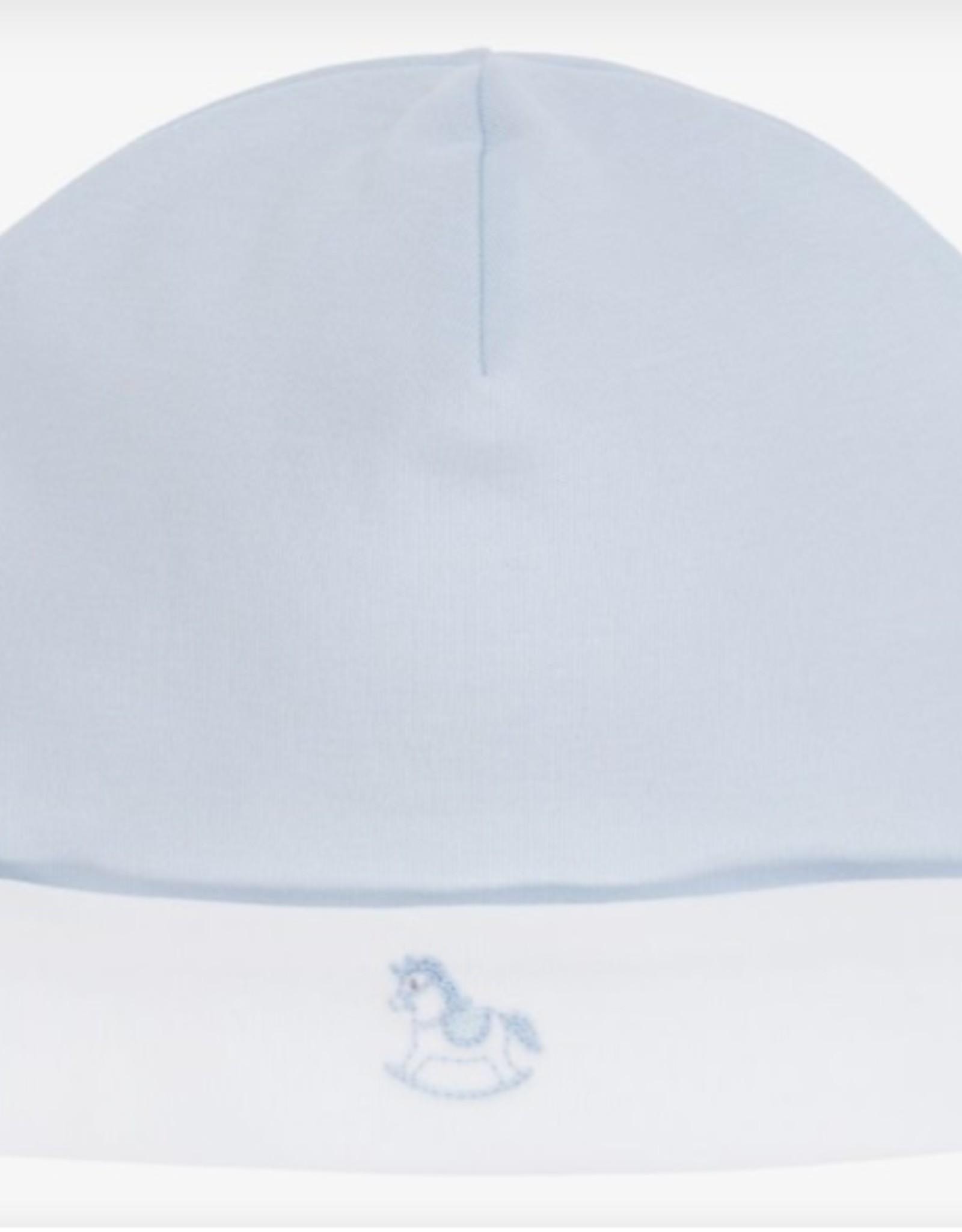 Kissy Kissy Blue Hat w/ Rocking Horse Embroidery