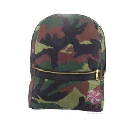 Mint Seersucker Medium Backpack Woodland Seersucker