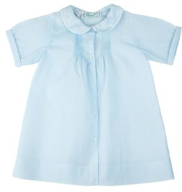 Feltman Brothers Embroidered Collar Folded Daygown Blue