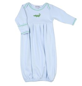 Magnolia Baby Tiny Alligator Embroidered Converter Gown
