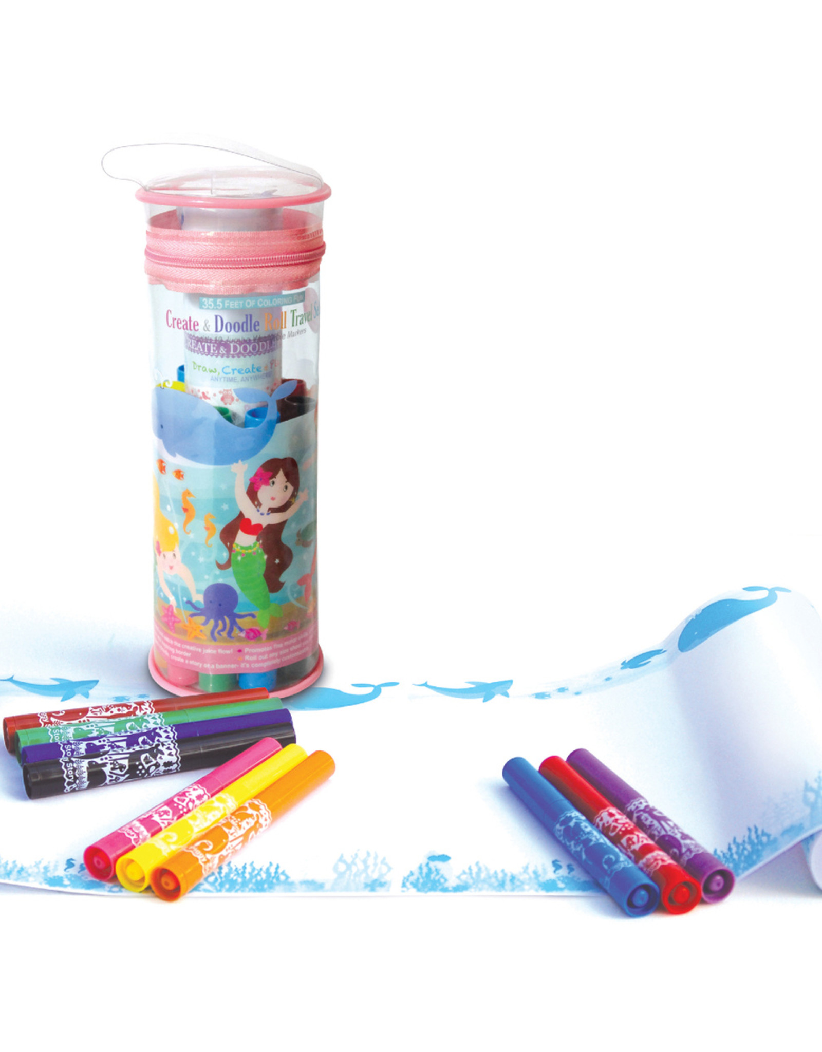 The Piggy Story Inc. Create & Doodle Roll Travel Set