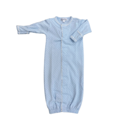 Magnolia Baby Sweet Baby Converter Gown w/ Dots, Light Blue