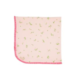 The Beaufort Bonnet Company Baby Buggy Blanket, Linden Hall Letters in Hamptons Hot Pink