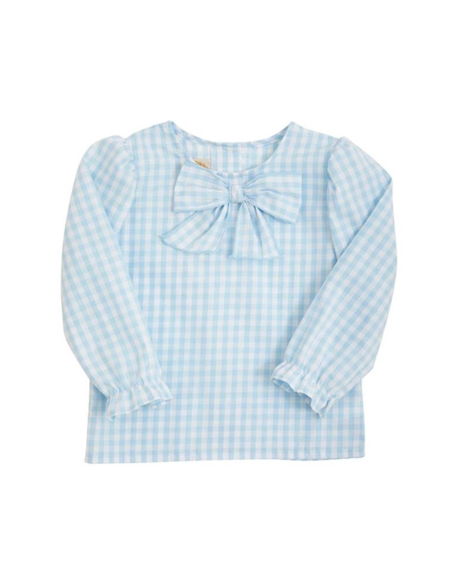 The Beaufort Bonnet Company Beatrice Bow Blouse Buckhead Blue Gingham
