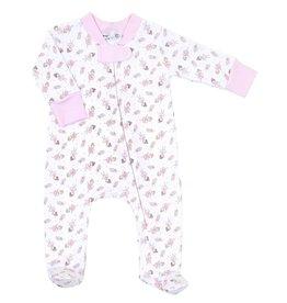 Magnolia Baby Twinkle Toes Printed Zipper Footie