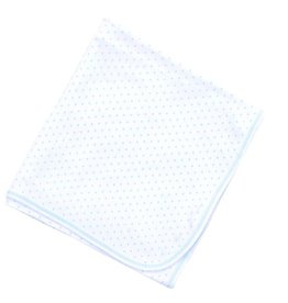 Magnolia Baby Mini Dot Essentials Blanket, Light Blue