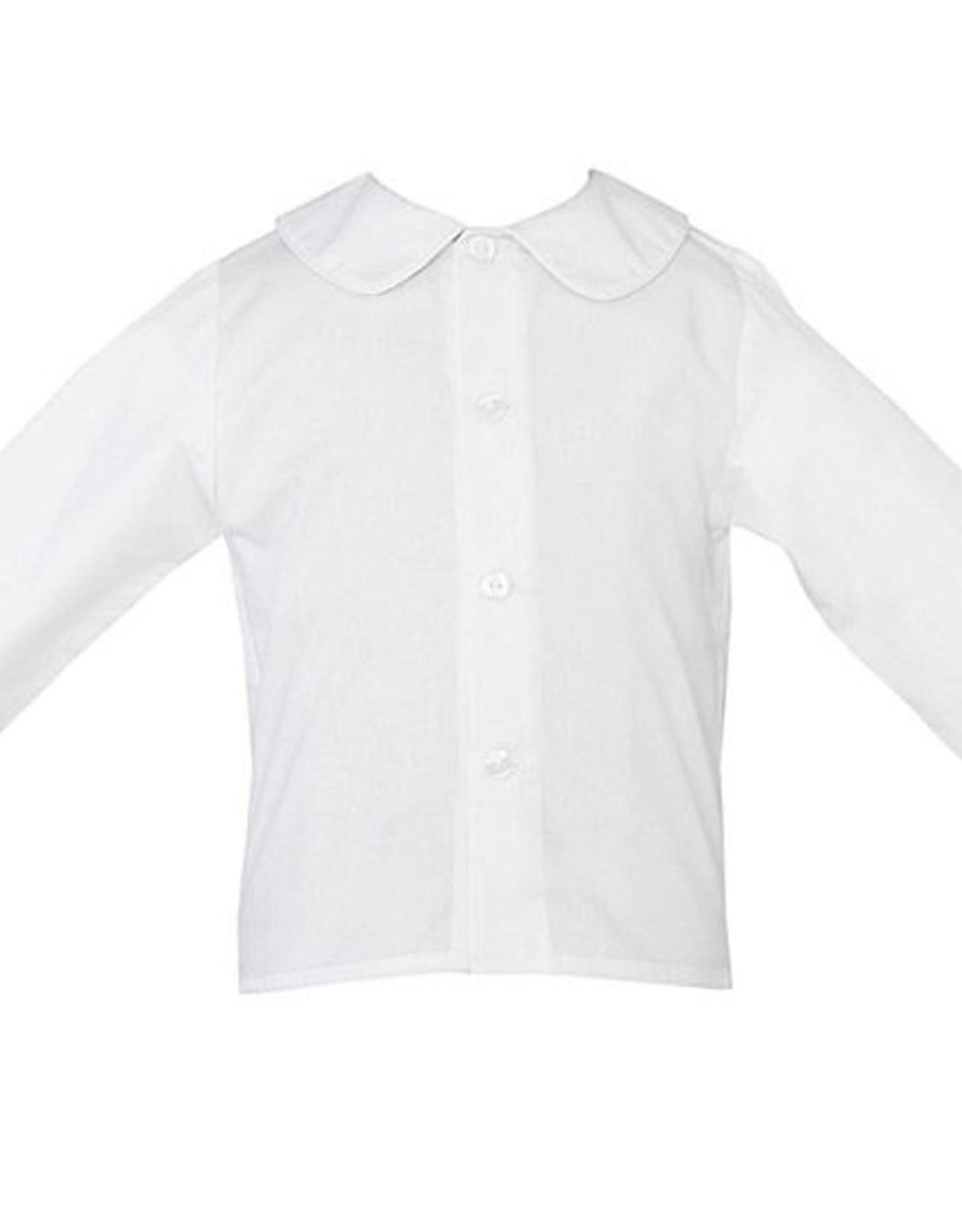 Petit Bebe Boys LS White Shirt w/ Buttons