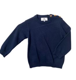 Pima crew neck Sweater Navy