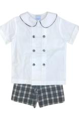 The Bailey Boys Hunter Plaid Dressy Short Set 4t