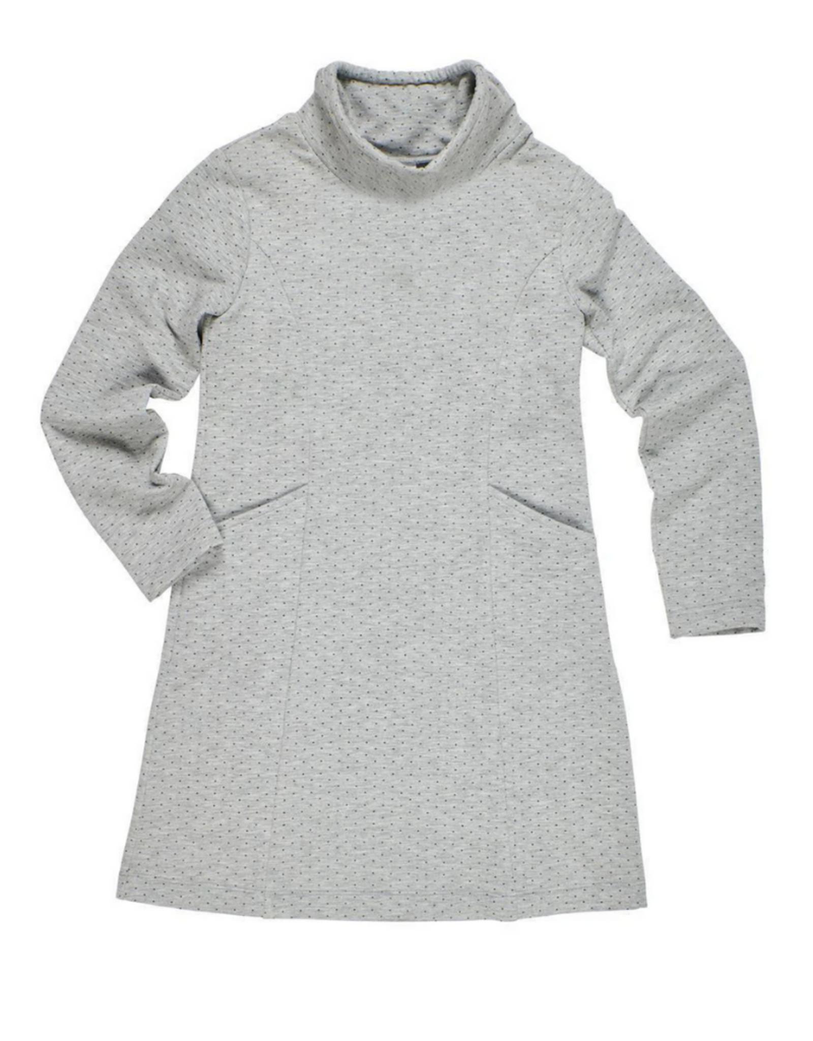 Florence Eiseman Polka Dot Sweatshirt Dress With Pockets
