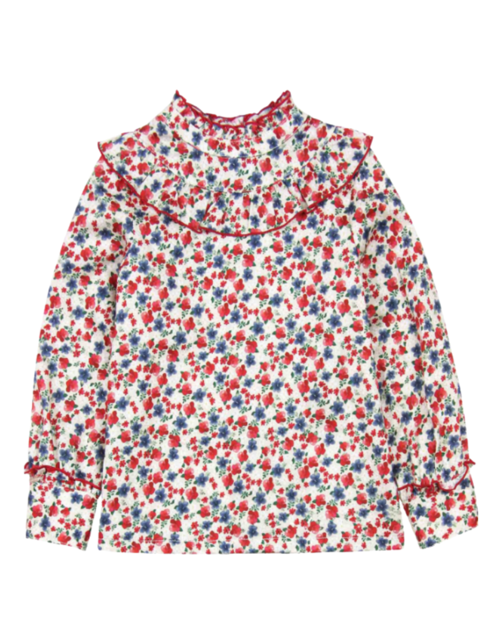 Mayoral Long Sleeve Floral Blouse