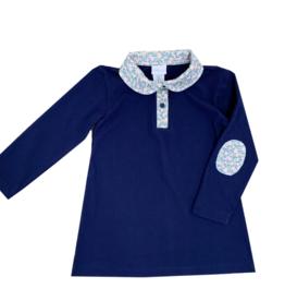 LullabySet Long Sleeve Playful Polo Dress - Keep Blooming