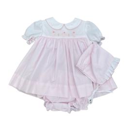 Petit Ami Three Bunnies Pink Dress