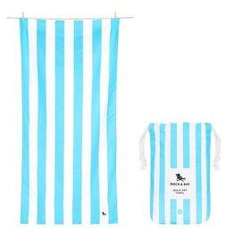Dock & Bay Tulum Blue Cabana Striped Quick Dry Towel