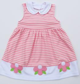 Florence Eiseman Stripe Knit Dress With Flowers