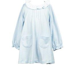 The Proper Peony Blue Pima LS Aline Dress