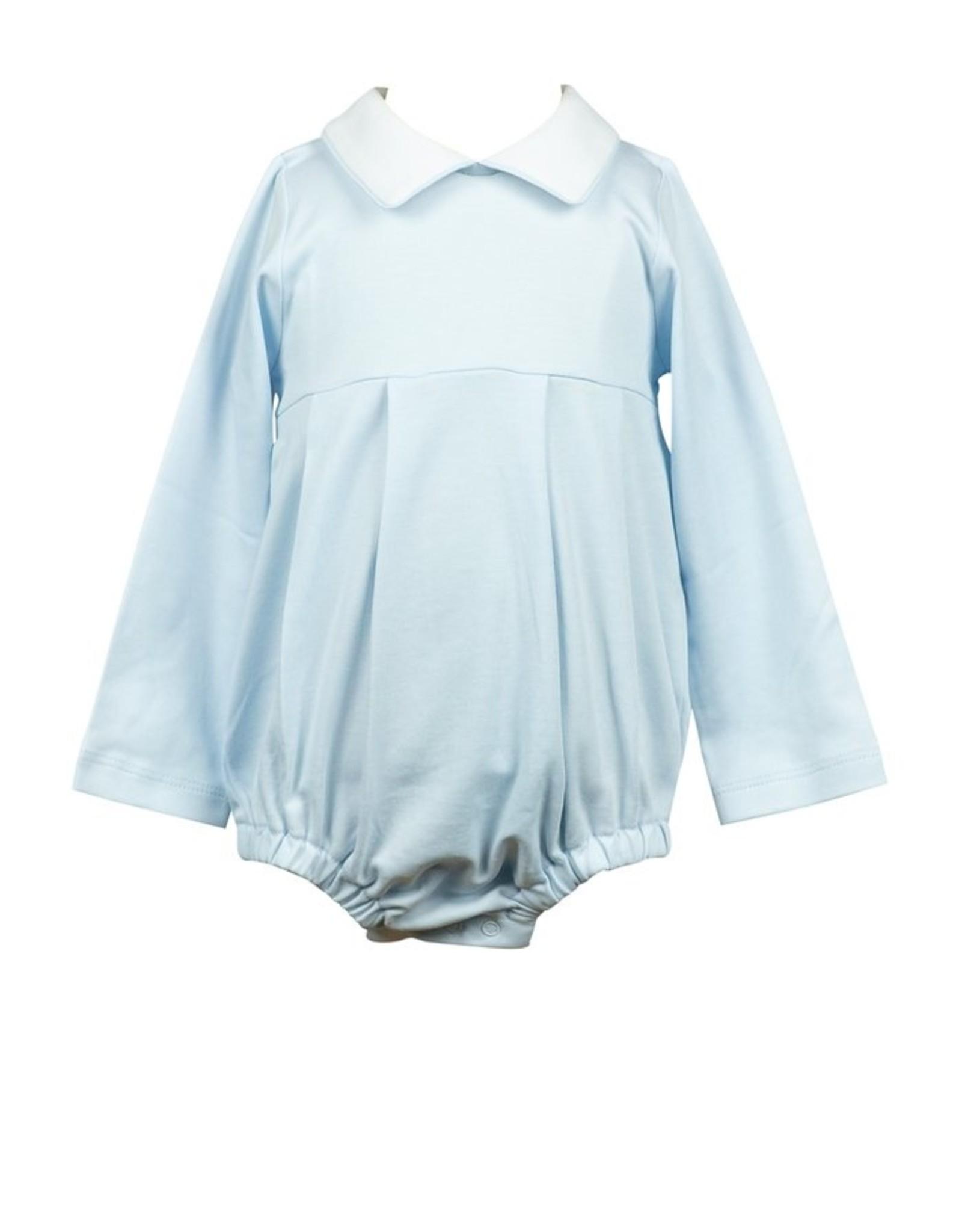 The Proper Peony Blue Pima LS Boy Bubble