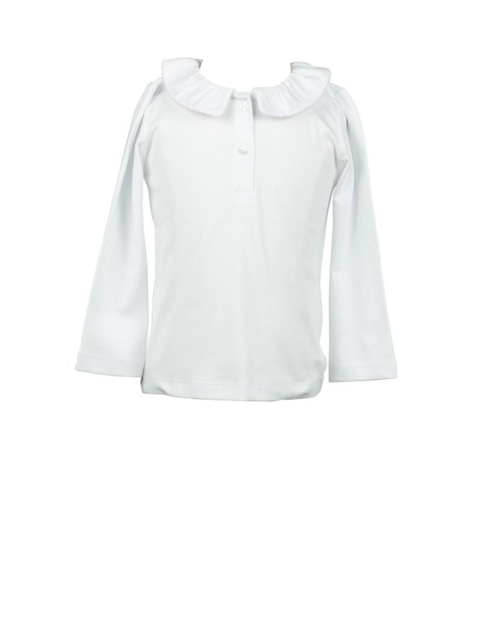 The Proper Peony Fall Florals Pima Split Collar Shirt, White/Pink Trim