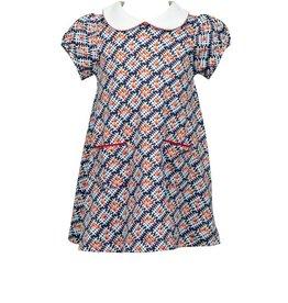 The Proper Peony Apple Plaid Pima SS Aline Dress
