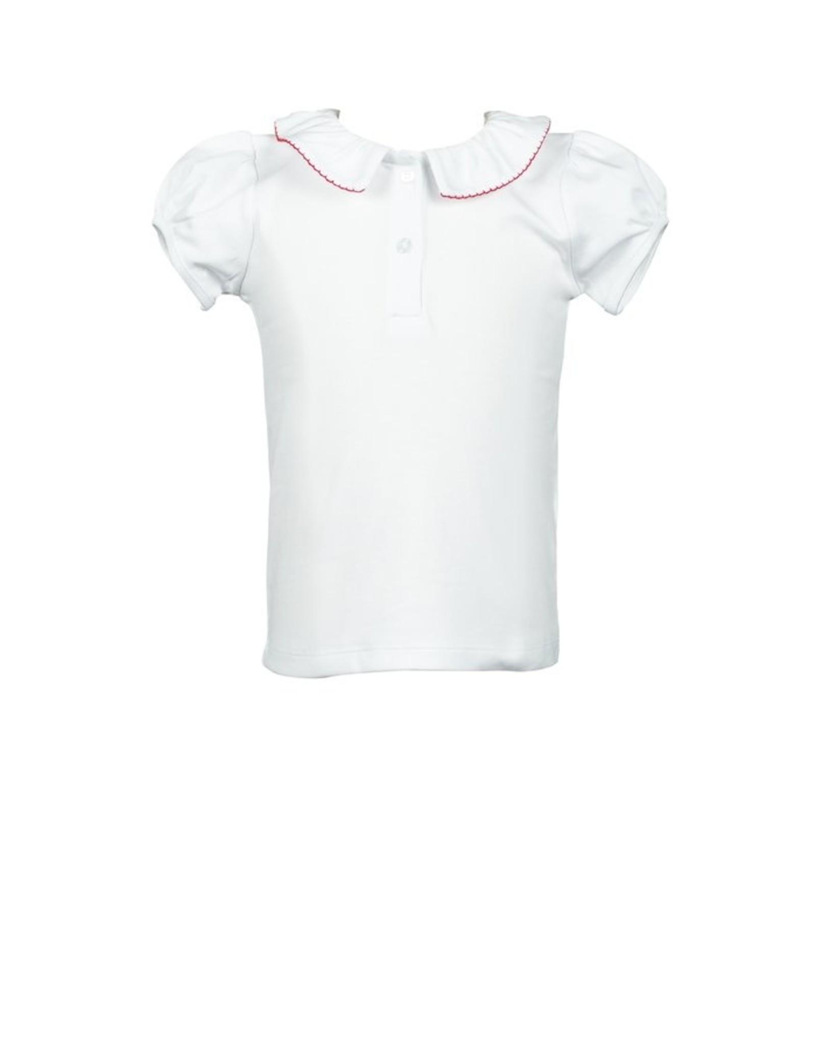 The Proper Peony Apple Plaid Pima Shirt White/Red Trim