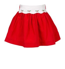 The Proper Peony Tinsel Red Skirt