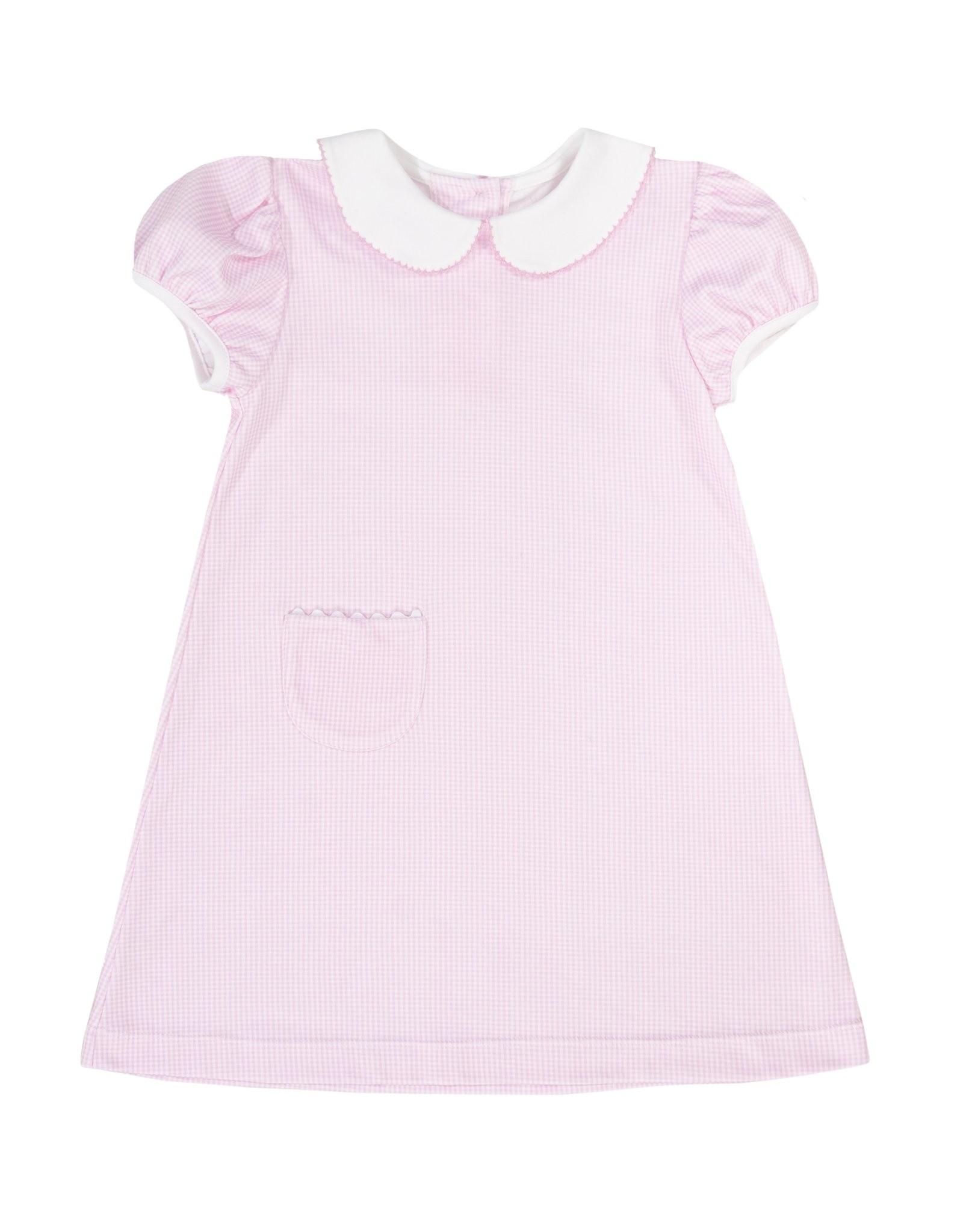 LullabySet 1956 Pocket Dress Pink Gingham Colorful Fun