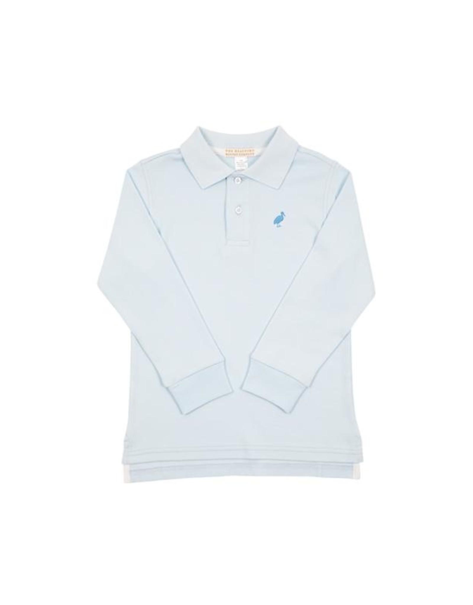 The Beaufort Bonnet Company Prim & Proper LS Pima Polo, Buckhead Blue