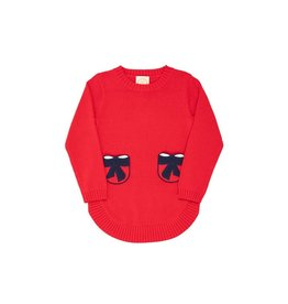 The Beaufort Bonnet Company Terrell Sweater Tunic with Bows, Richmond Red